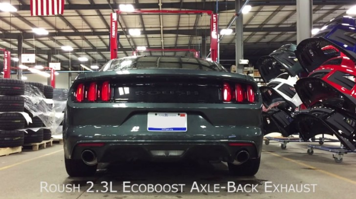 2015 ford mustang ecoboost v6 sound furious with roush performance exhaust kit autoevolution. Black Bedroom Furniture Sets. Home Design Ideas