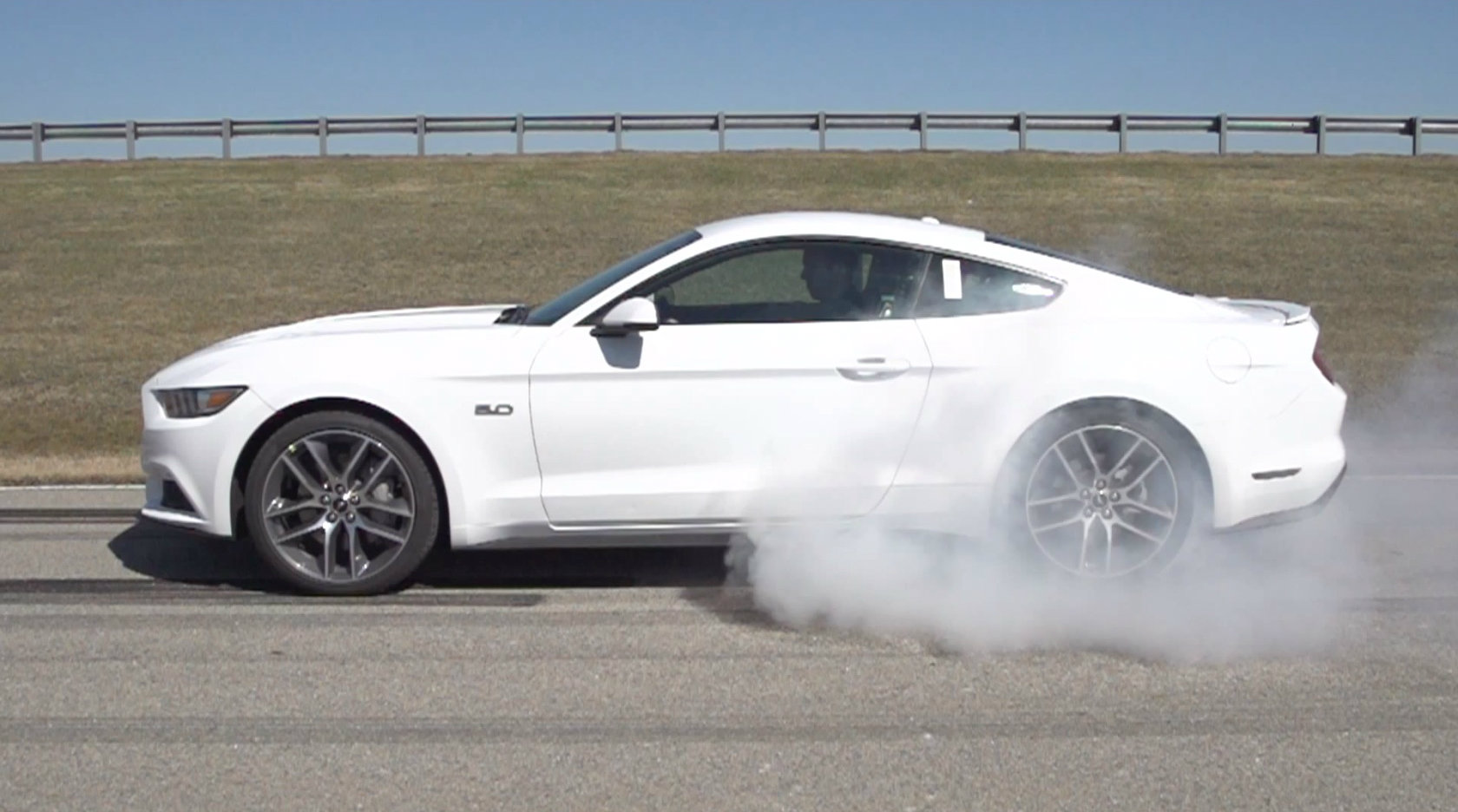 although controversial by purist standards the electronic line lock - Ford Mustang Gt 2015 White