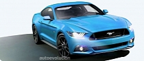 2015 Ford Mustang in Grabber Blue and Gotta Have It Green