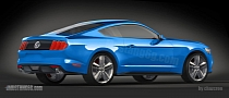 2015 Ford Mustang Rear End Exposed by New Renderings