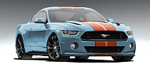 2015 Ford Mustang Rendered in Awesome Gulf Livery