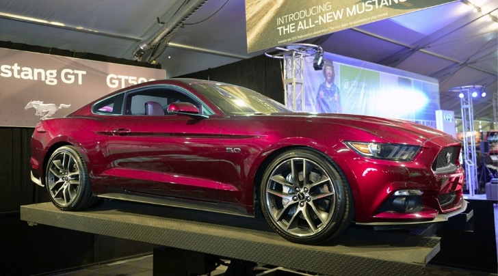 2017 Ford Mustang Rendered In Ruby Red