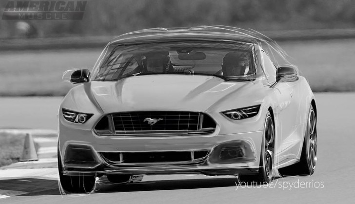 2015 Ford Mustang Rendering Reveals the Pony's New Face
