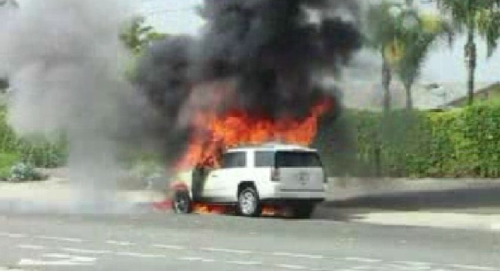 2015 Gmc Yukon Bursts Into Flames During Test Drive