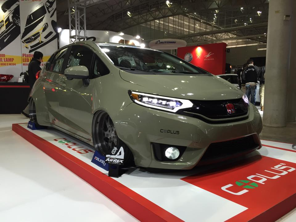 2015 Honda Fit Gets Widebody Kit and Custom LED Lights ...