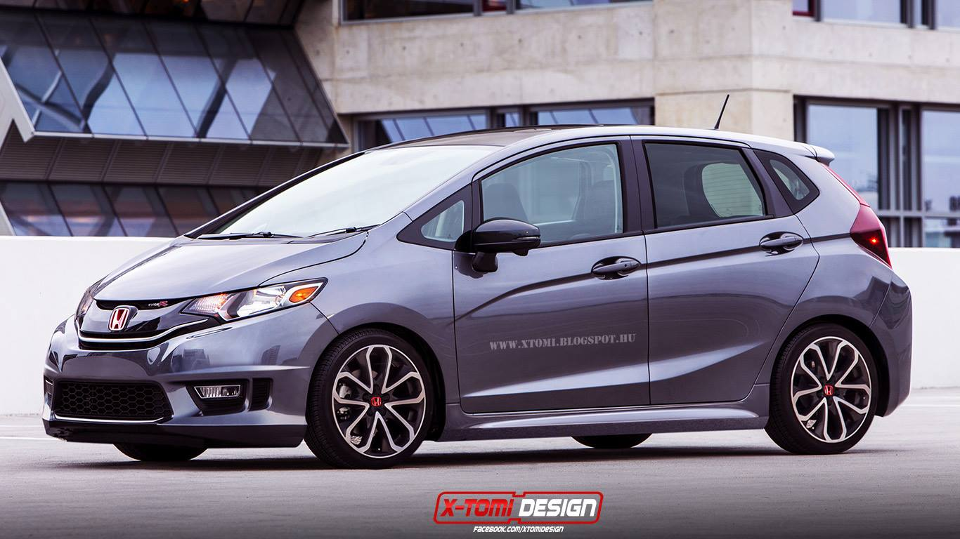 2015 honda fit jazz type r rendered autoevolution. Black Bedroom Furniture Sets. Home Design Ideas