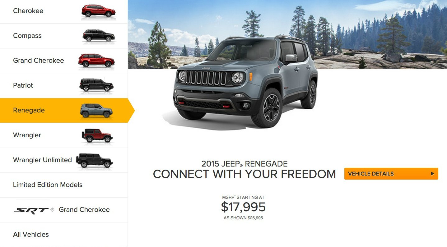 2015 jeep renegade 17 995 is more expensive than the 2015 jeep patriot 16 695 autoevolution. Black Bedroom Furniture Sets. Home Design Ideas