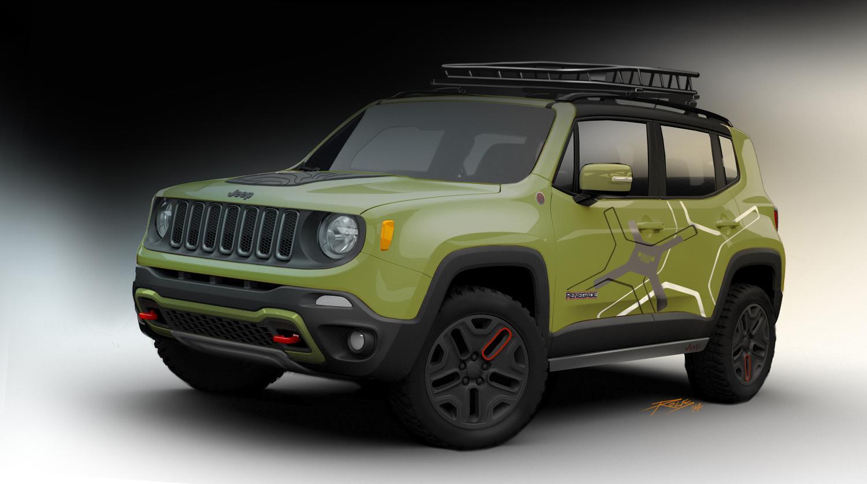 2015 jeep renegade receives mopar goodies for 2015 detroit. Black Bedroom Furniture Sets. Home Design Ideas