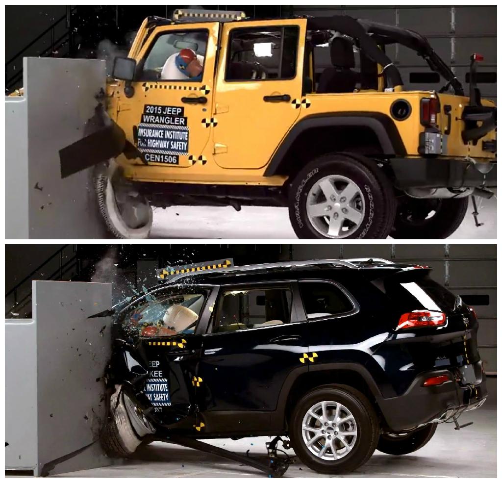 Crash rating for jeep wrangler