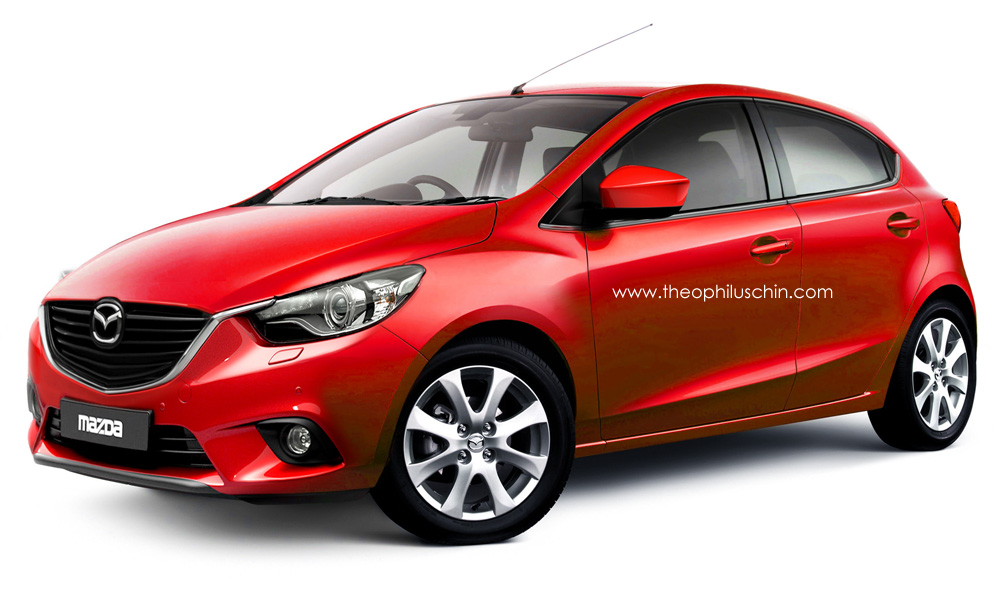 2015 mazda2 rendered with extra zoom zoom autoevolution. Black Bedroom Furniture Sets. Home Design Ideas