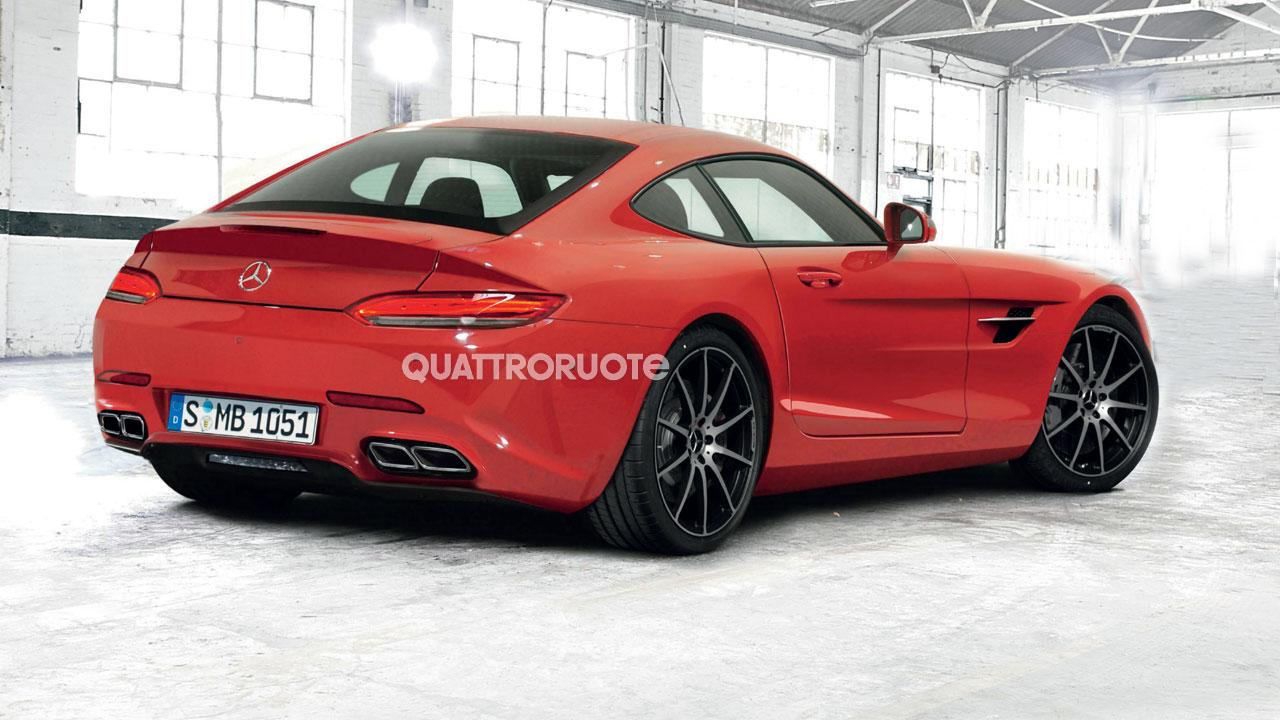 2015 mercedes benz amg gt c190 gets italian rendering. Black Bedroom Furniture Sets. Home Design Ideas