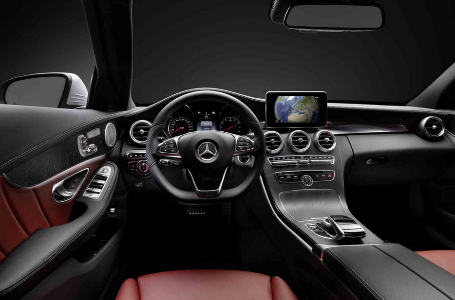 2015 mercedes benz c class w205 interior leaked autoevolution. Black Bedroom Furniture Sets. Home Design Ideas