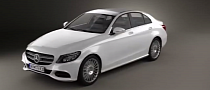 2015 Mercedes-Benz C-Class W205 Rendered in 3D [Video]