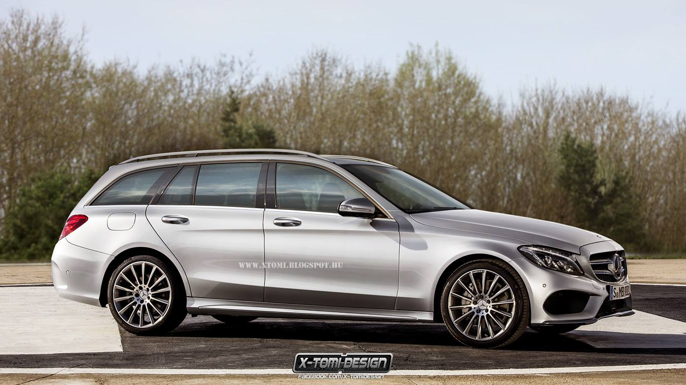 2015 mercedes benz c class wagon s205 gets rendered. Black Bedroom Furniture Sets. Home Design Ideas