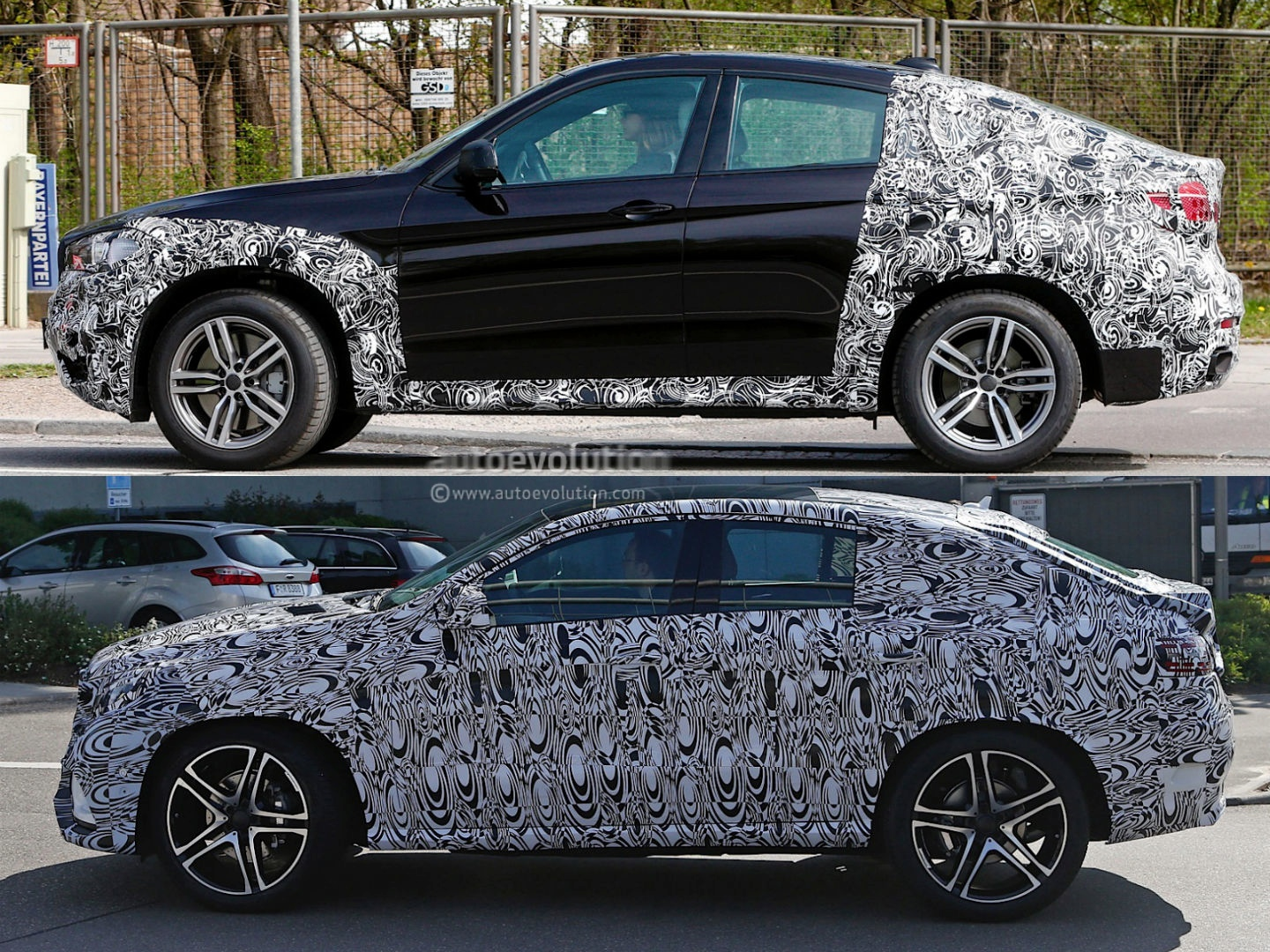 2015 Mercedes Benz Mlc Vs 2015 Bmw X6 Spyshots Autoevolution