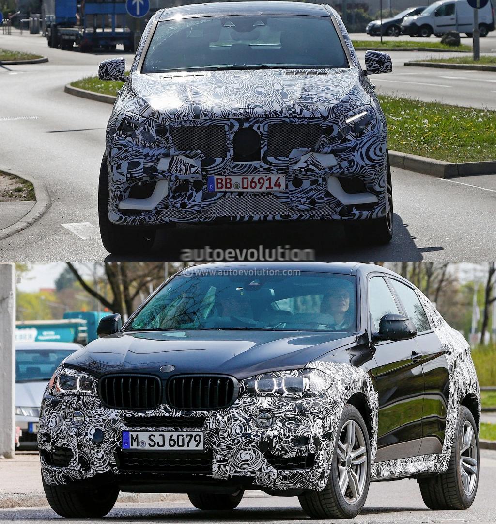 Bmw X6 Production: 2015 Mercedes-Benz MLC Vs 2015 BMW X6 Spyshots