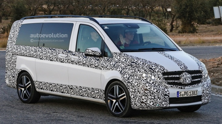2015 mercedes benz v class caught in spain autoevolution. Black Bedroom Furniture Sets. Home Design Ideas