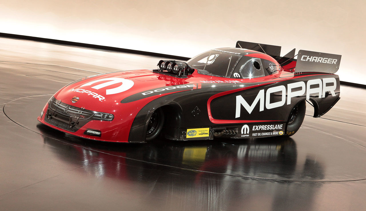 2015 Mopar Dodge Charger R/T NHRA Funny Car Unveiled at SEMA [Video ...