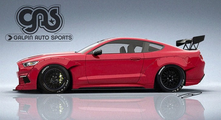2015 Mustang Rendered with Racing Body Kit