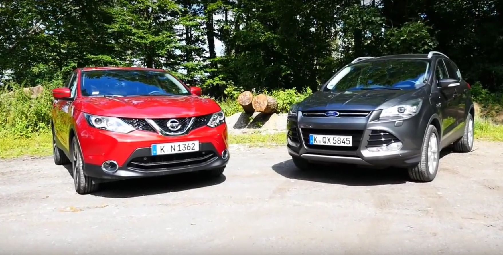 2015 nissan qashqai vs ford kuga comparison test reveals. Black Bedroom Furniture Sets. Home Design Ideas