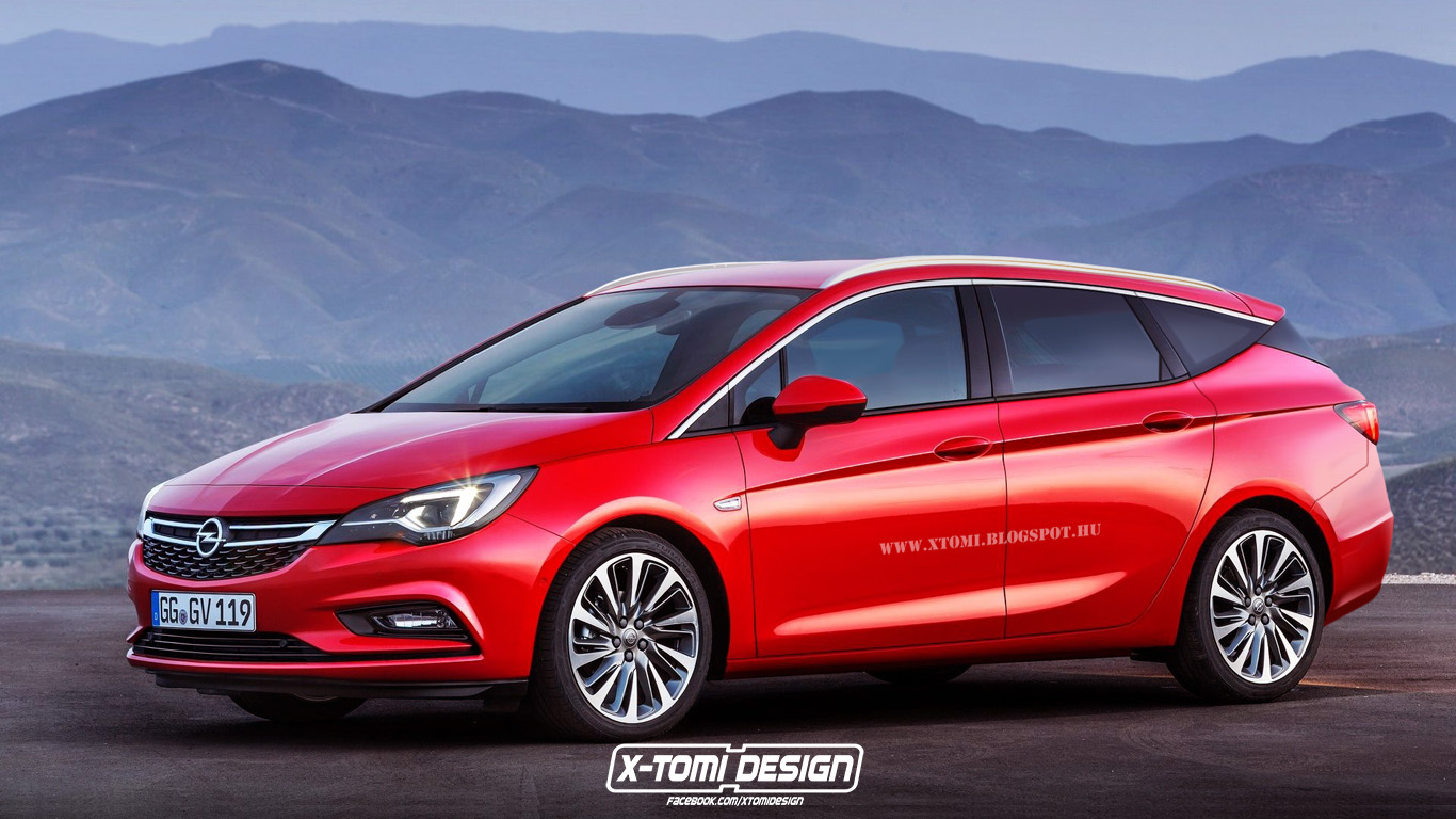 2015 opel astra k imagined as a sports tourer autoevolution. Black Bedroom Furniture Sets. Home Design Ideas