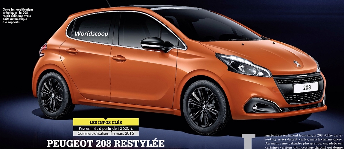 2015 Peugeot 208 Facelift Leaked By French Print Magazine