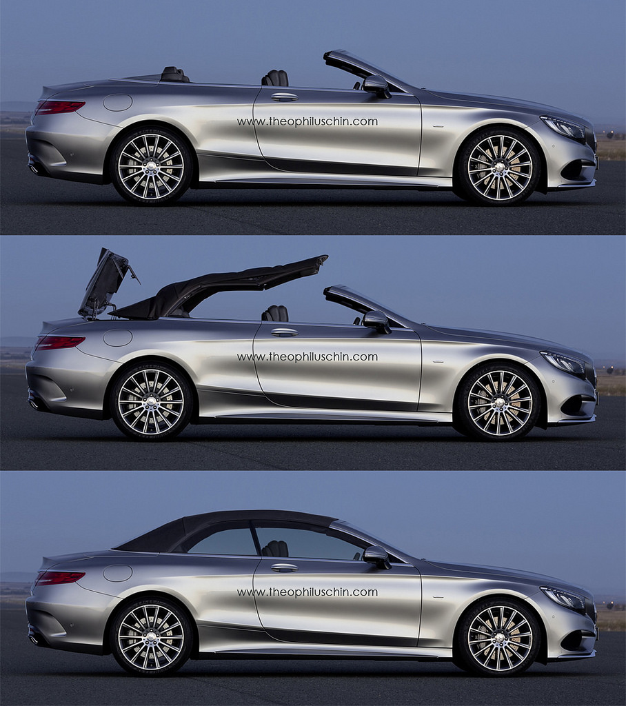 2015 s class cabriolet a217 rendering looks spot on autoevolution. Black Bedroom Furniture Sets. Home Design Ideas
