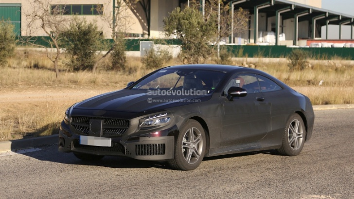2015 S-Class Coupe C217 Caught With AMG Bodykit [Photo Gallery]