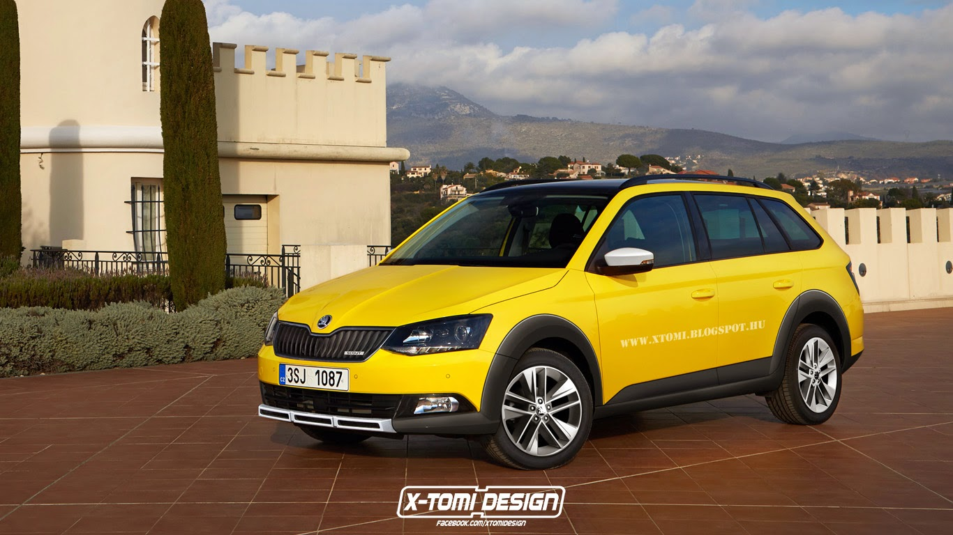 2015 skoda fabia scout combi rendered should debut soon. Black Bedroom Furniture Sets. Home Design Ideas