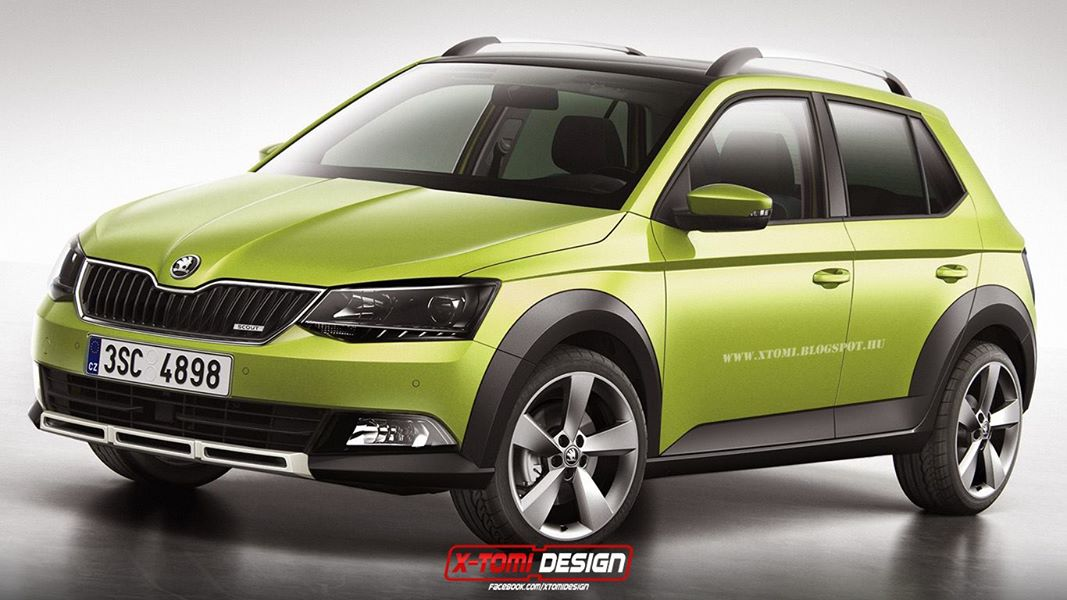 2015 skoda fabia scout looks ready to take on the sandero stepway autoevolution. Black Bedroom Furniture Sets. Home Design Ideas