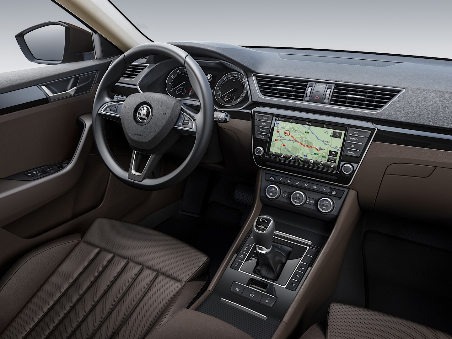 2015 Skoda Superb Interior First Photos Revealed Passat