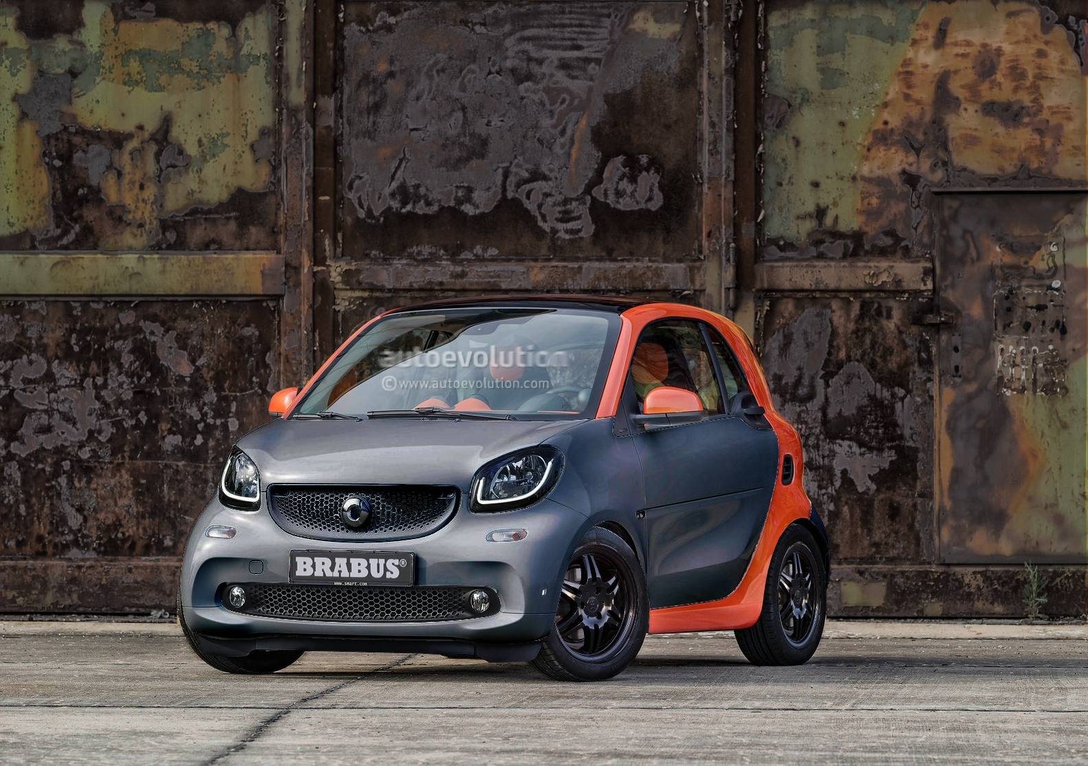 2015 smart fortwo by brabus the details autoevolution. Black Bedroom Furniture Sets. Home Design Ideas