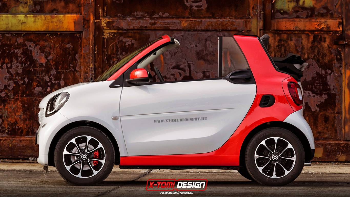2015 smart fortwo cabrio rendering autoevolution. Black Bedroom Furniture Sets. Home Design Ideas