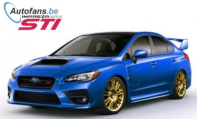 2015 Subaru WRX STI Rendered - autoevolution