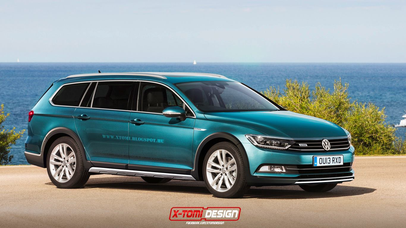 2015 volkswagen passat alltrack b8 rendered autoevolution. Black Bedroom Furniture Sets. Home Design Ideas