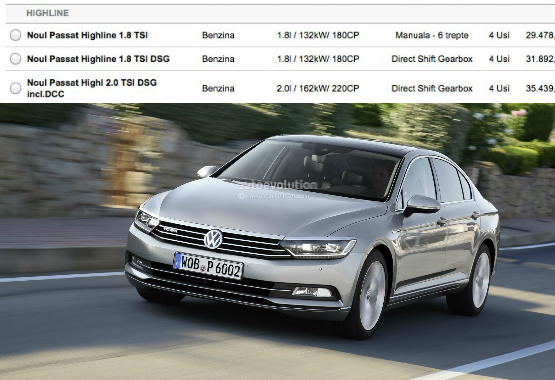 2015 volkswagen passat b8 1 8 tsi and 2 0 tsi engines launched autoevolution. Black Bedroom Furniture Sets. Home Design Ideas