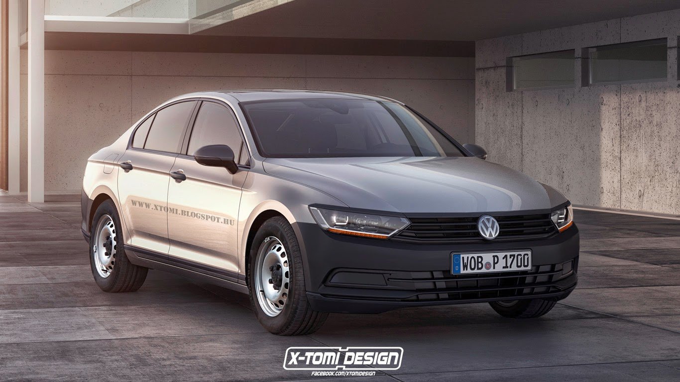 2015 volkswagen passat b8 imagined as base model. Black Bedroom Furniture Sets. Home Design Ideas