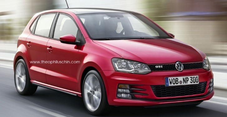 2015 volkswagen polo gti rendered autoevolution. Black Bedroom Furniture Sets. Home Design Ideas