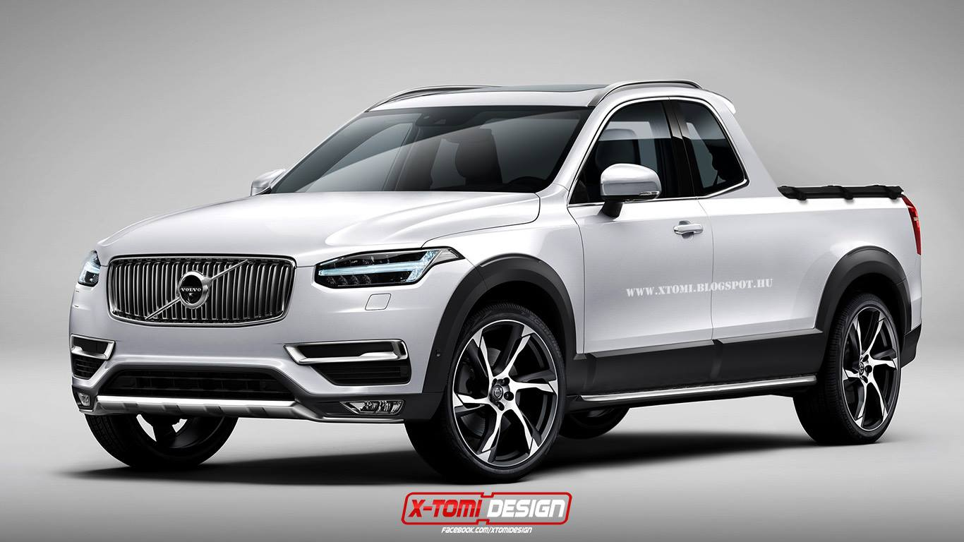 2015 volvo xc90 rendered as pickup truck from your nightmares autoevolution. Black Bedroom Furniture Sets. Home Design Ideas