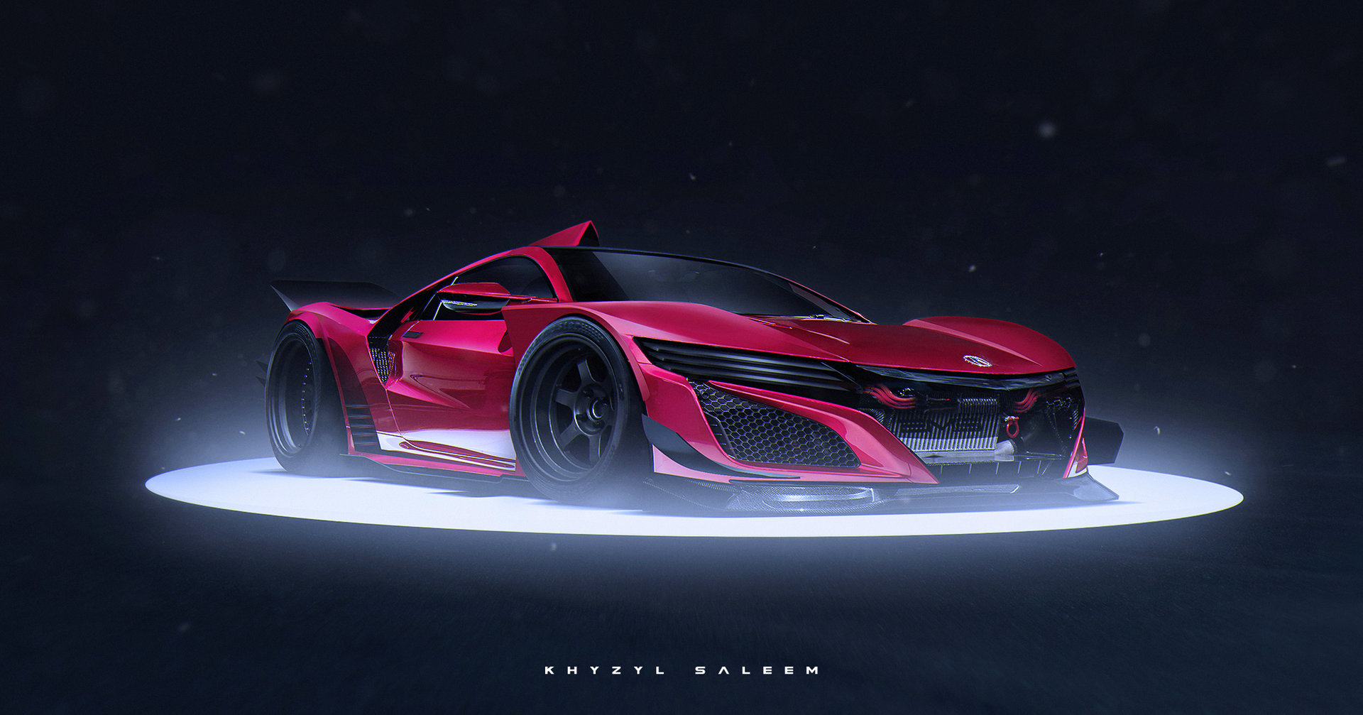 2016 acura nsx rendered as le mans racecar turned street-legal type