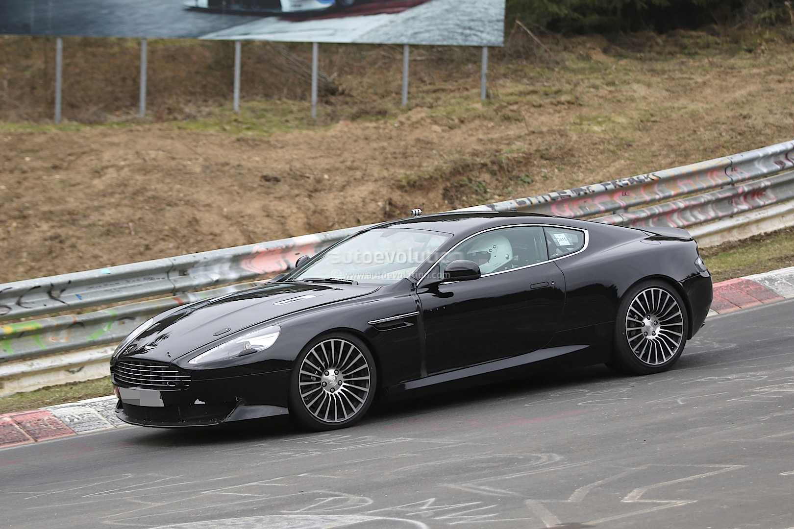 2016 aston martin db9 spied it s powered by an atmospheric v12. Black Bedroom Furniture Sets. Home Design Ideas