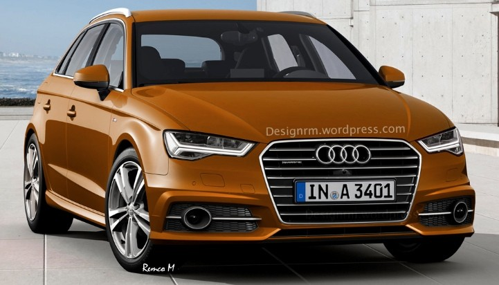 2016 audi a3 facelift rendered with new matrix led. Black Bedroom Furniture Sets. Home Design Ideas