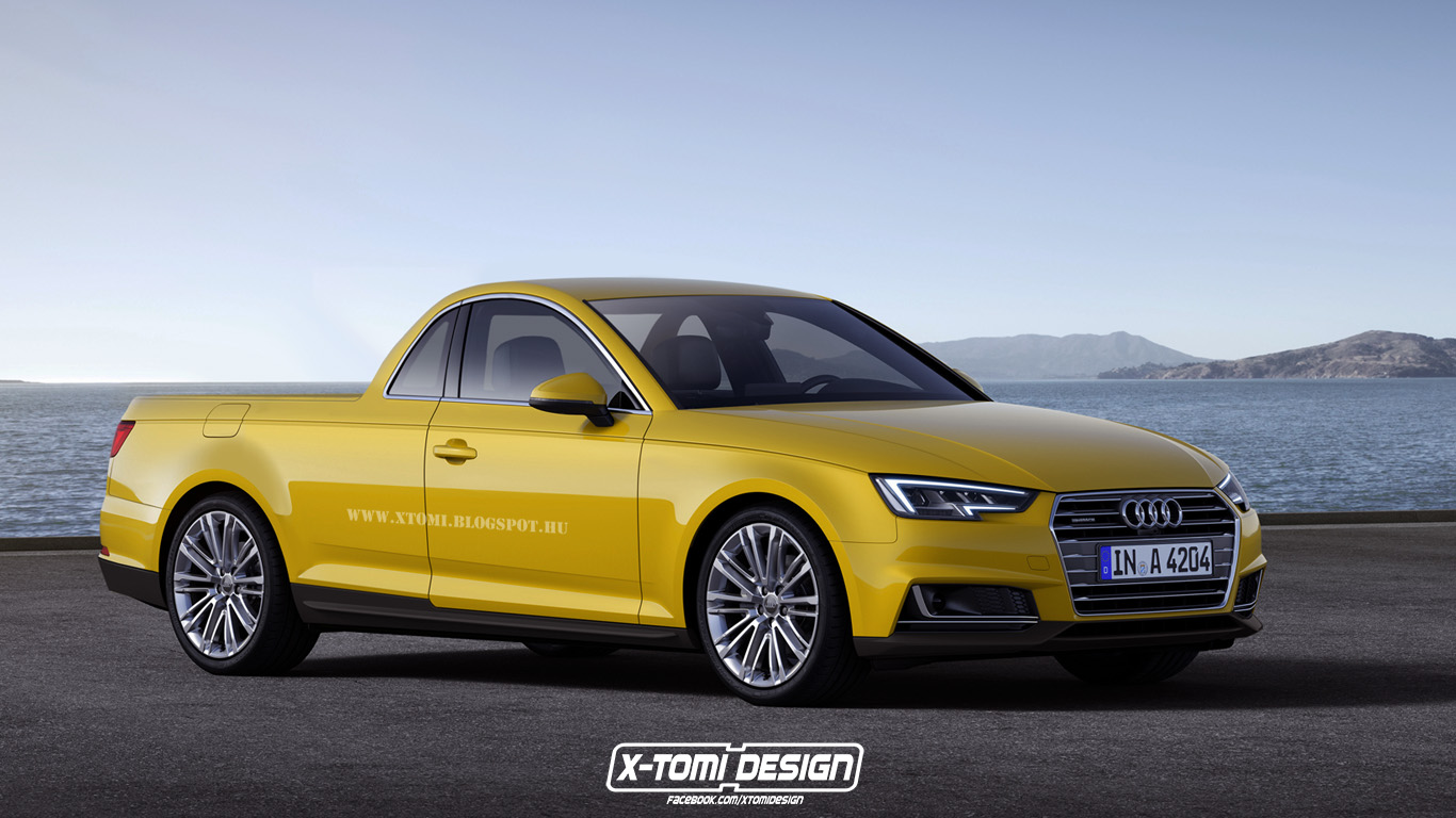 2016 Audi A4 Embraces the Pickup Treatment, Looks Like a German El ...