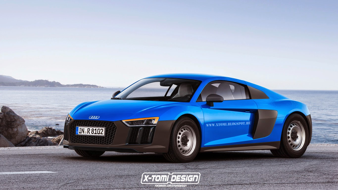 2016 audi r8 imagined as budget supercar with steel wheels autoevolution. Black Bedroom Furniture Sets. Home Design Ideas