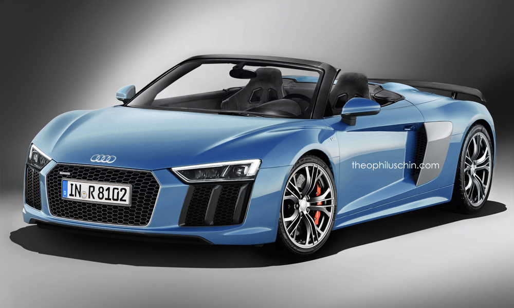 2016 audi r8 spyder already rendered the best way to enjoy a v10 autoevolution. Black Bedroom Furniture Sets. Home Design Ideas