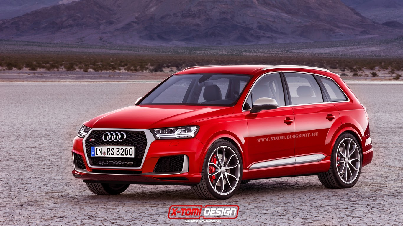 2016 audi rs q7 looks ready to take on the cayenne turbo autoevolution. Black Bedroom Furniture Sets. Home Design Ideas
