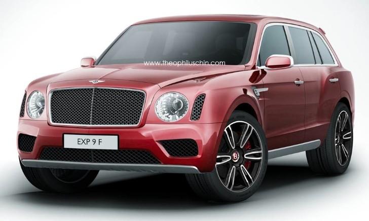 2016 Bentley SUV Rendered