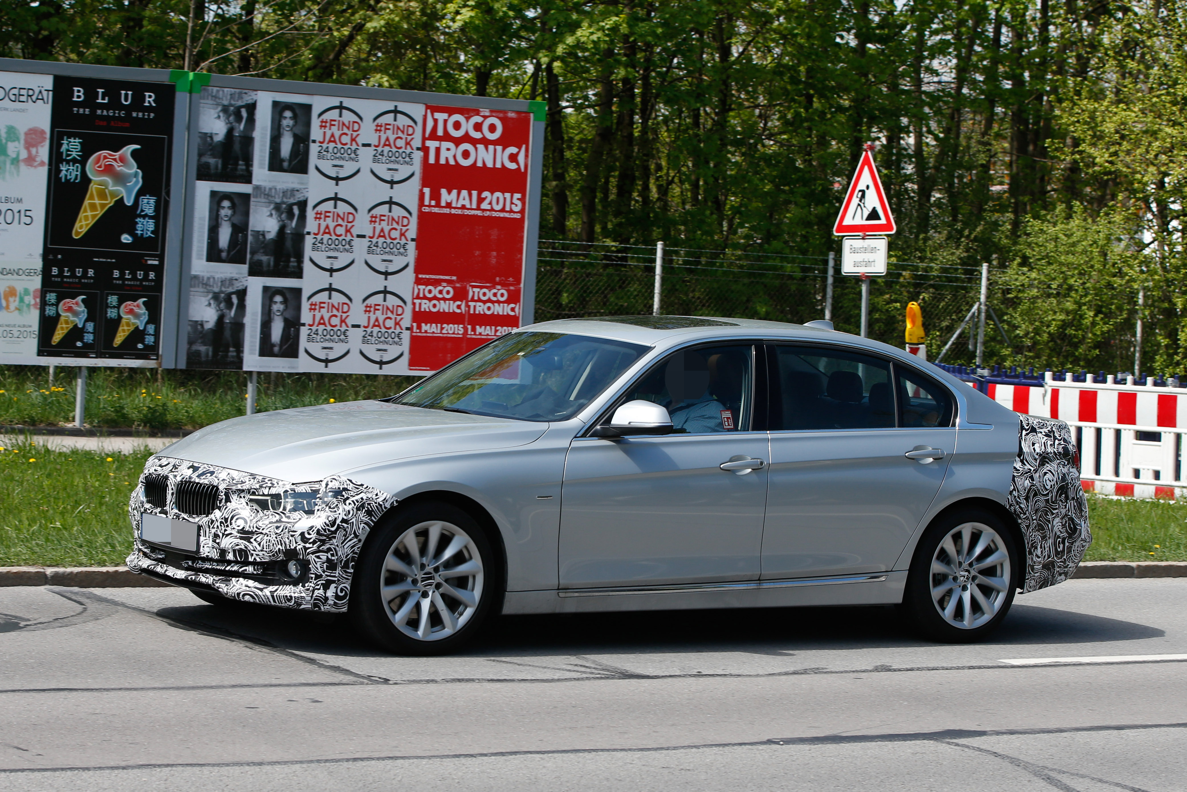 2016 Bmw 3 Series Facelift Long Wheelbase Model Spied Before