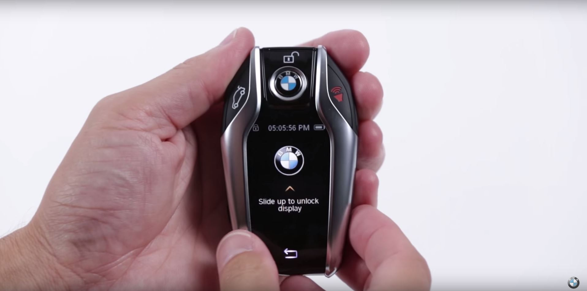 2016 bmw 7 series display key functions showcased video. Black Bedroom Furniture Sets. Home Design Ideas