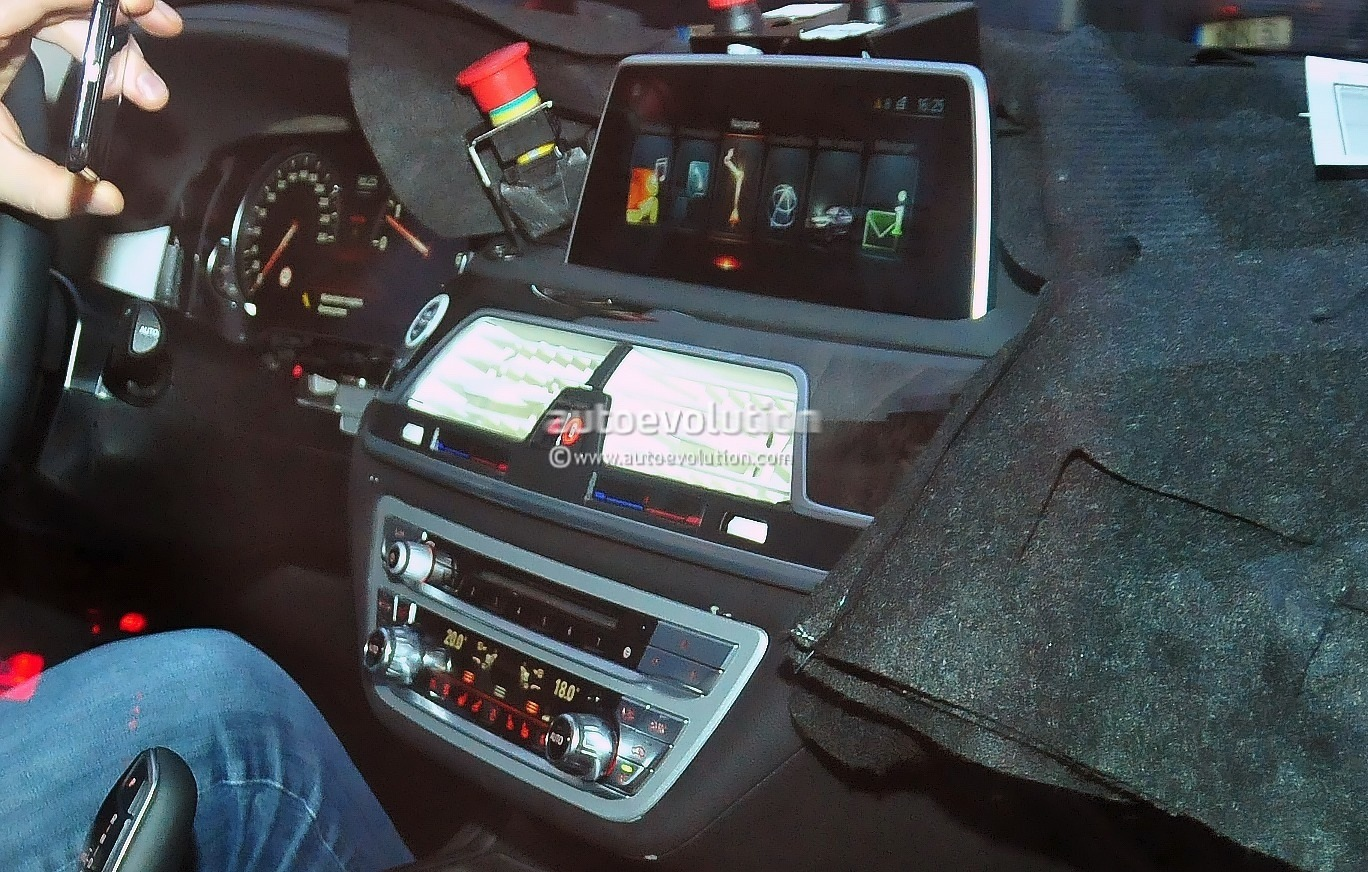 2016 bmw 7 series interior spied the new idrive interface revealed autoevolution
